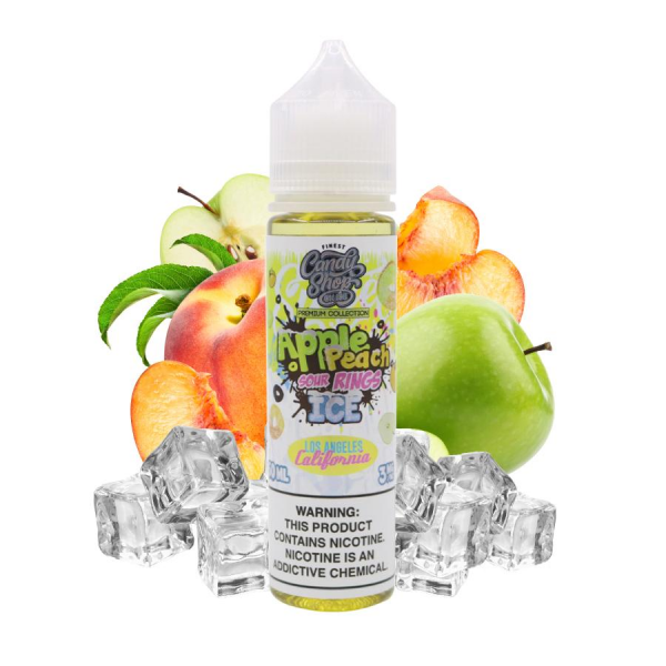 Tinh dầu Finest | Apple Peach Sour Rings Ice 60ml | Táo - Đào